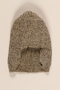 Black and white tweed patterned wool knit hat brought to the US by a German Jewish refugee