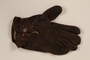 Brown Nappa leather left hand glove brought to the US by a German Jewish refugee