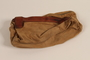 Small zippered pouch with leather trim brought to the US by a German Jewish refugee