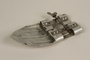 Metal ski foot attachment brought to the US by a German Jewish refugee