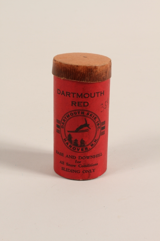 2004.485.44 front Dartmouth Red ski wax owned by a German Jewish refugee