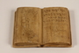 Carved stone book with an inscription made for a British officer by a Jewish internee in Cyprus