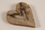 Heart shaped carved stone ashtray acquired by a British officer