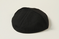 2004.524.6 front Black yarmulke used by a German Jewish refugee  Click to enlarge