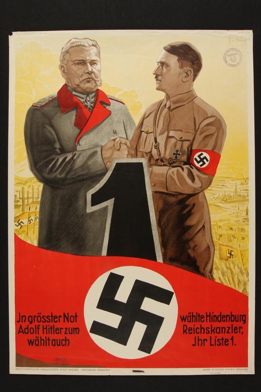1998.112.1 front Hitler/Hindenburg poster