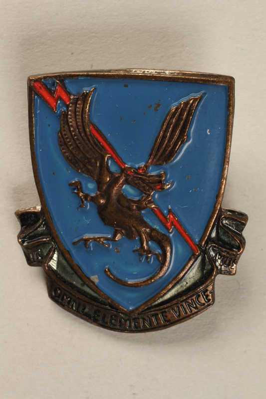 1998.126.10 front Military badge