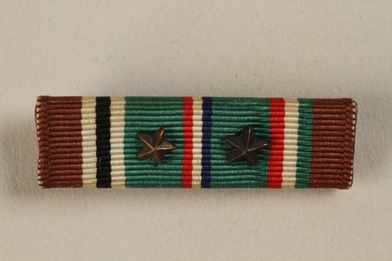 1998.126.14_a-c front Military ribbon bar