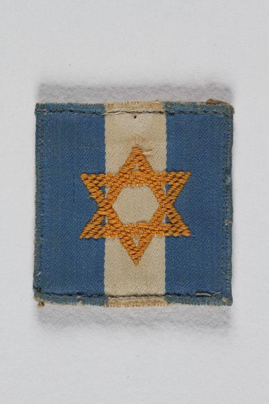 1998.138.1 front Jewish Brigade badge