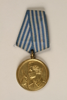 1999.179.2 front Medal for bravery awarded by the Yugoslav Liberation Army  Click to enlarge