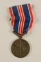 Ceskoslovenskou Medaila za Chrabrost [Medal of Valor] awarded to a Czech Jewish soldier