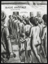 Autobiographical charcoal drawing by David Friedman of naked women and children entering the showers at Auschwitz