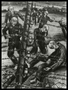 Autobiographical charcoal drawing by David Friedman of concentration camp inmates who preferred the electric wire rather than more tortures