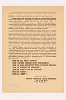 1993.62.1 back Handbill urging Jews and workers to remain and build a Socialist Poland  Click to enlarge