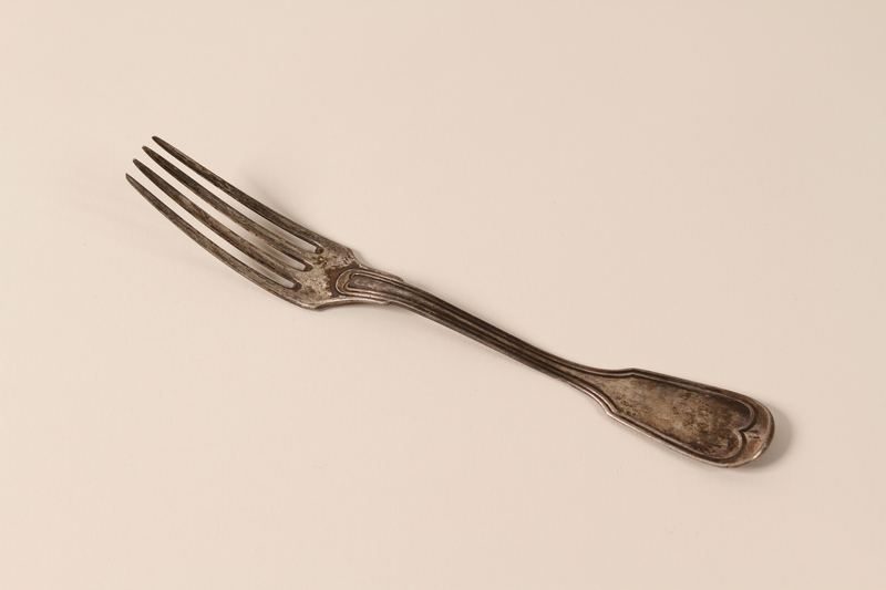 2005.4.2 front Silver dinner fork smuggled into France by a German Jewish refugee