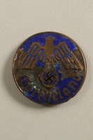2000.219.12 front Blue painted Nazi Wartheland badge with eagle  Click to enlarge