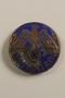 Blue painted Nazi Wartheland badge with eagle