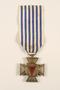 Croix du Prisonnier Politique de la Guerre 1940-1945 medal with ribbon, 2 stars, awarded to a Belgian resistance fighter
