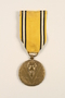 Commemorative Medal of the War 1940-1945 medal and ribbon awarded to a Belgian resistance fighter