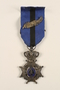 Order of Leopold II Knight class medal, ribbon and silver palm citation awarded to a Belgian resistance fighter