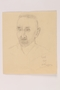 Pencil portrait of his father brought to the US by a Jewish refugee from Vienna