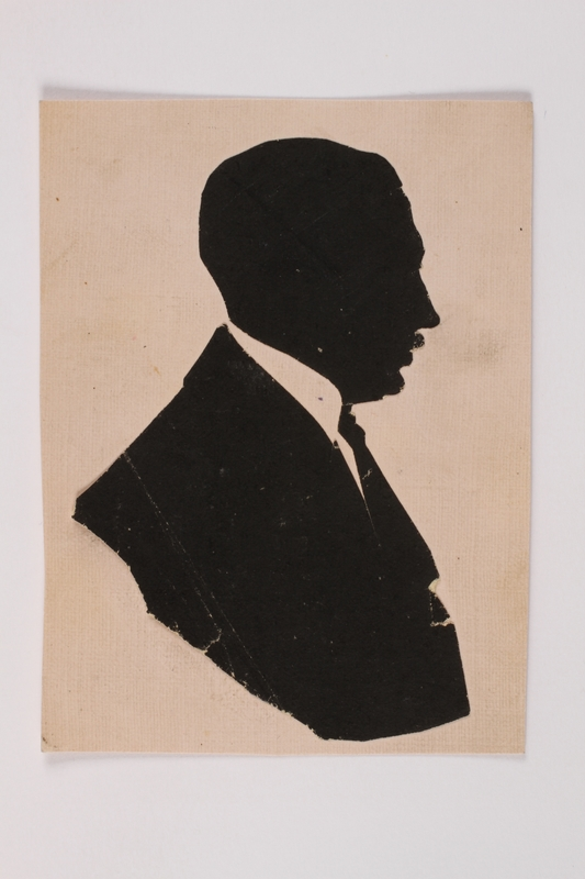 2004.704.3 front Small silhouette of his father brought to the US by a Jewish refugee from Vienna