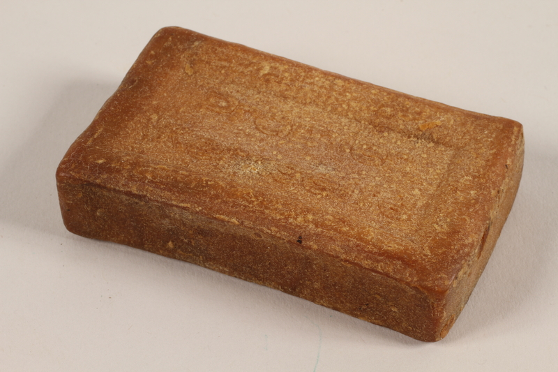 2004.705.13 back Light brown bar of curd soap produced Nazi Germany