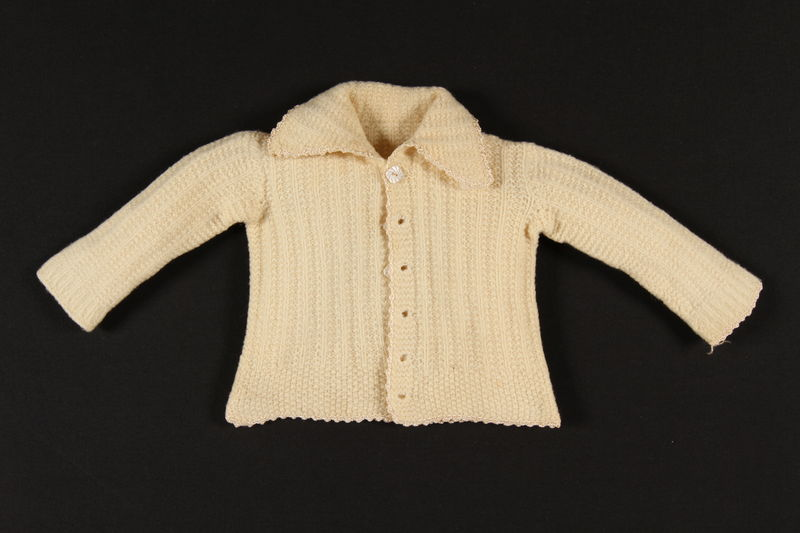 2000.617.3 front Baby sweater