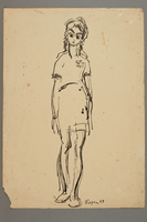 2005.181.7 front Drawing by Alexander Bogen of a girl wearing a six-pointed star  Click to enlarge