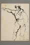 Drawing by Alexander Bogen of a partisan gesturing with his right arm