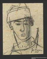 2005.181.13 front Portrait of a partisan, drawn by Alexander Bogen  Click to enlarge