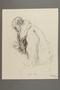 Drawing by Alexander Bogen of a man sitting in a heavy coat