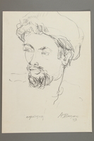 2005.181.24 front Drawing by Alexander Bogen of a partisan  Click to enlarge