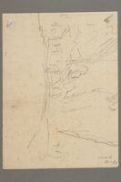 2005.181.38 back Drawing by Alexander Bogen of a bearded partisan, seated and holding a rifle  Click to enlarge