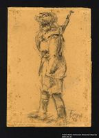 2005.181.40 front Drawing by Alexander Bogen of a female partisan  Click to enlarge