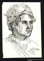 2005.181.45 front Portrait of a partisan, drawn by Alexander Bogen  Click to enlarge