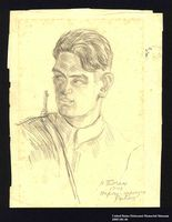 2005.181.46 front Portrait of a partisan, drawn by Alexander Bogen  Click to enlarge