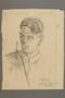 Portrait of a partisan, drawn by Alexander Bogen