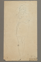 2005.181.47 back Drawing by Alexander Bogen of a girl wearing a six-pointed star  Click to enlarge