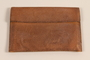 Leather wallet with flap closure carried by a Jewish refugee from Nazi Germany to the US