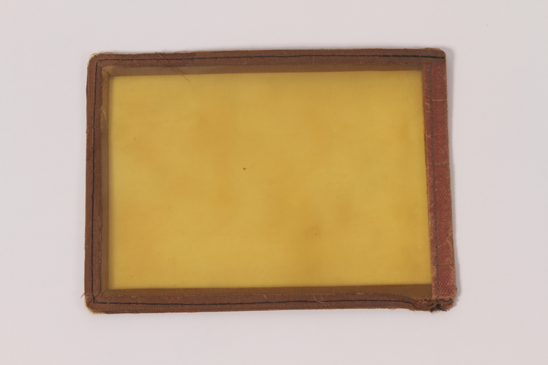 2005.303.2 front Plastic document case used by a former Hungarian Jewish forced laborer