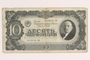 Soviet Union, 10 chervonets note, acquired by a Hungarian Jewish forced laborer