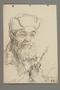 Portrait of a bearded partisan, drawn by Alexander Bogen