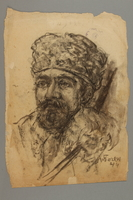 2005.181.56 front Portrait of a partisan with a goatee, drawn by Alexander Bogen  Click to enlarge