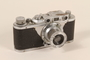 Chrome Leica II 35mm camera used by a Yugoslav refugee to document his family's life in hiding
