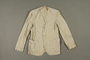 Man's long-sleeved linen jacket made in a displaced person's camp