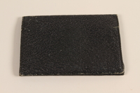 2005.379.6 front Blue leather billfold used by a Latvian Jewish refugee and aid worker from Nazi Germany  Click to enlarge