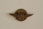 Wing shaped Portuguese Air Force pin given to a young Jewish refugee by friends in Lisbon