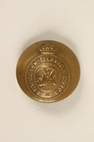 2005.379.14 front Button from his military uniform given by a British soldier to a young Jewish refugee  Click to enlarge