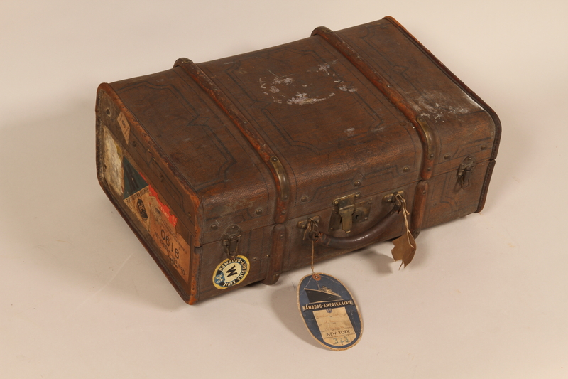 2005.415.2 front Carry-on suitcase used by a young German Jewish woman