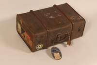 2005.415.2 front Carry-on suitcase used by a young German Jewish woman  Click to enlarge